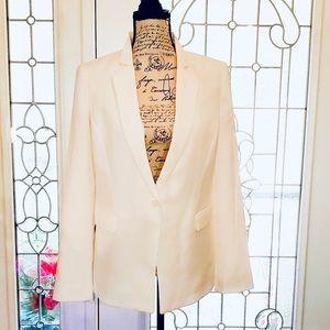 White House Black Market Sleek Blazer in Crema
